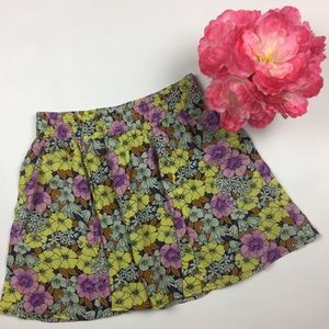 Anthropologie Leifnotes Skirt Flare Size 2 Floral